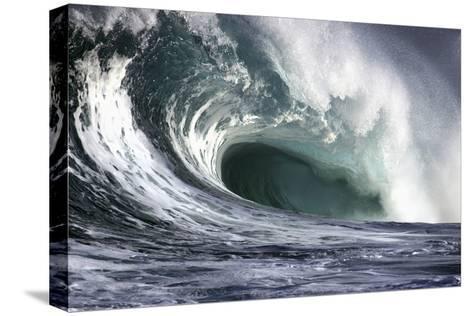 Hawaii, Big Powerful Wave Break-Design Pics Inc-Stretched Canvas Print