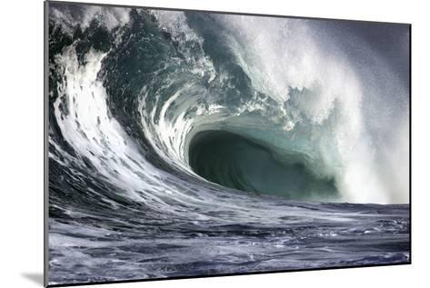 Hawaii, Big Powerful Wave Break-Design Pics Inc-Mounted Photographic Print