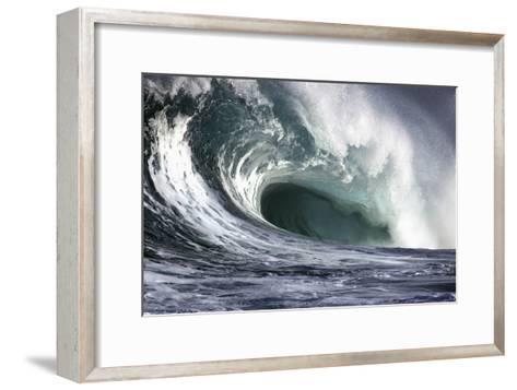 Hawaii, Big Powerful Wave Break-Design Pics Inc-Framed Art Print