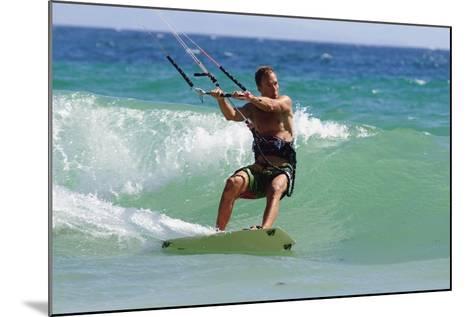 Man Kite Surfing; Costa De La Luz,Andalusia,Spain-Design Pics Inc-Mounted Photographic Print