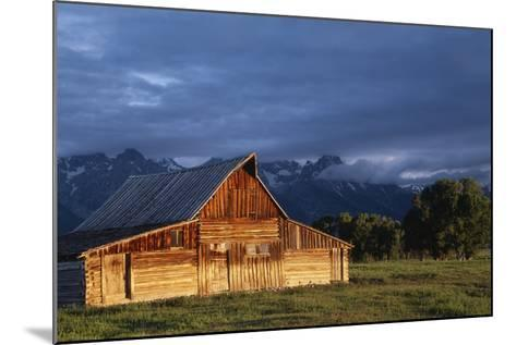 Sunrise on Old Wooden Barn on Farm, Moulton Barn-Design Pics Inc-Mounted Photographic Print