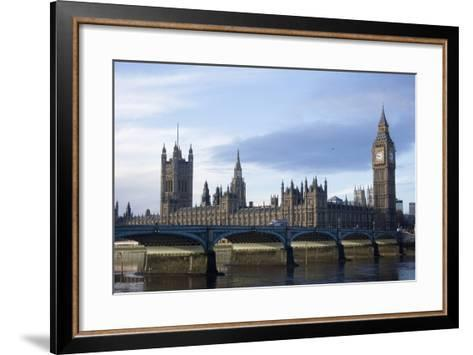 The Parliament Square and the Thames in London-Design Pics Inc-Framed Art Print