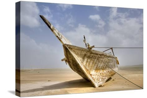 Abandoned Dhow on Beach; Ras Al Hadd, Oman-Design Pics Inc-Stretched Canvas Print