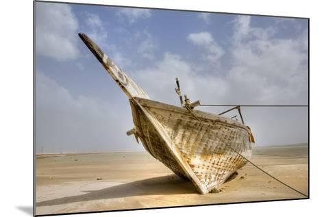 Abandoned Dhow on Beach; Ras Al Hadd, Oman-Design Pics Inc-Mounted Photographic Print