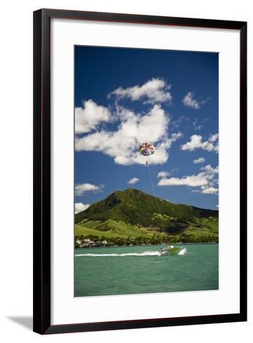 Parasailing; Mauritius-Design Pics Inc-Framed Art Print