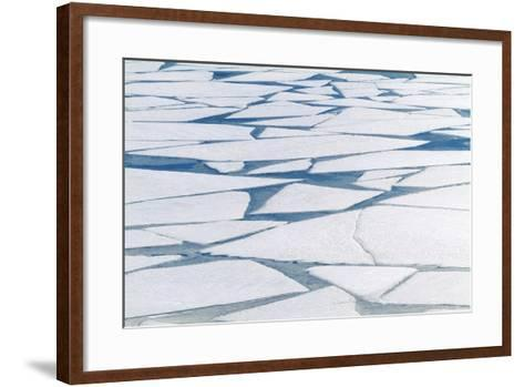 Winter Ice Layer on Portage Lake Breaking Up with Spring Thaw Southcentral Alaska Portage Valley-Design Pics Inc-Framed Art Print