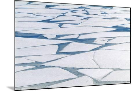Winter Ice Layer on Portage Lake Breaking Up with Spring Thaw Southcentral Alaska Portage Valley-Design Pics Inc-Mounted Photographic Print