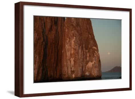 Moonrise Above Sleeping Lion Rock Off San Cristobal in the Galapagos-Karen Kasmauski-Framed Art Print