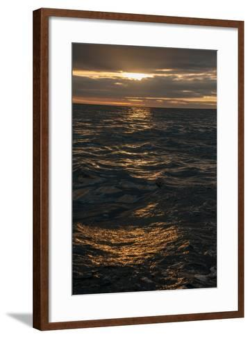 Sunset Above the Waters Off Isabela Island in the Galapagos-Karen Kasmauski-Framed Art Print
