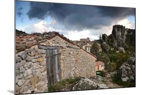 Stone Buildings Beneath Dark Clouds Near Verdon Gorge-Keith Ladzinski-Mounted Photographic Print