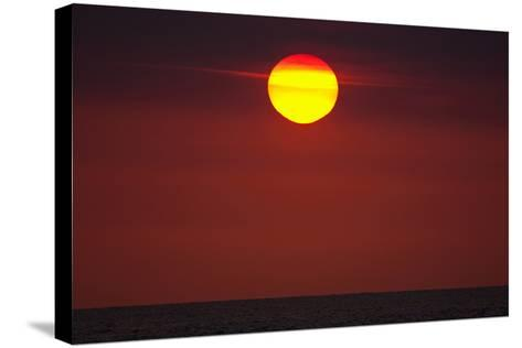 A Blazing Sunset over the Atlantic Ocean-Luis Lamar-Stretched Canvas Print