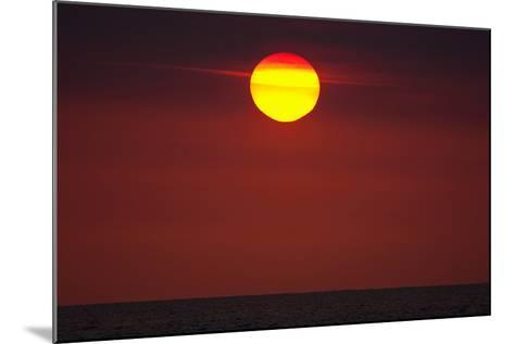 A Blazing Sunset over the Atlantic Ocean-Luis Lamar-Mounted Photographic Print