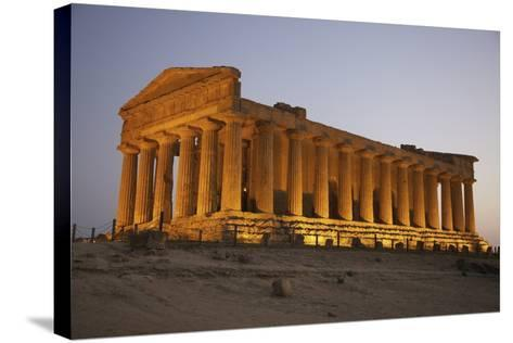 Temple of Concordia in the Valley of the Temples; Agrigento, Sicily, Italy-Design Pics Inc-Stretched Canvas Print