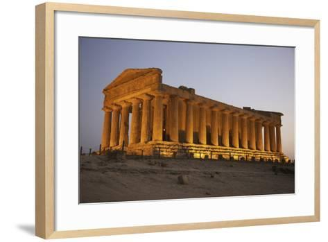 Temple of Concordia in the Valley of the Temples; Agrigento, Sicily, Italy-Design Pics Inc-Framed Art Print