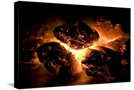 Glowing Hot Charcoal-Rebecca Hale-Stretched Canvas Print