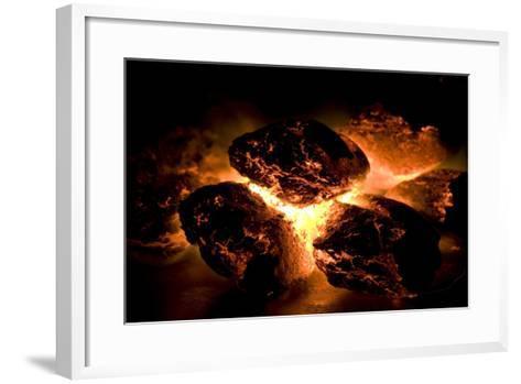 Glowing Hot Charcoal-Rebecca Hale-Framed Art Print