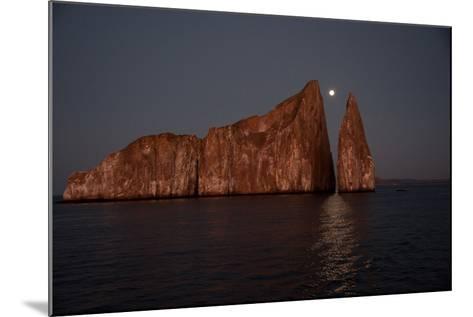Moonrise Above Sleeping Lion in the Galapagos-Karen Kasmauski-Mounted Photographic Print