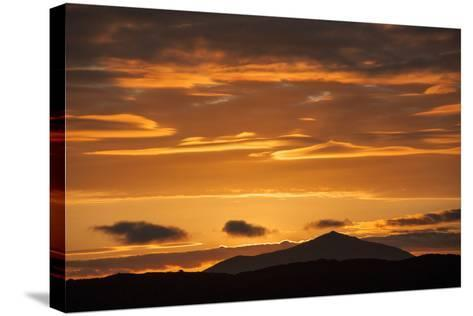 The Channel Between Sombrero Chino Island and Santiago Island in the Galapagos at Sunset-Karen Kasmauski-Stretched Canvas Print