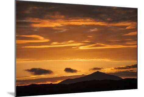 The Channel Between Sombrero Chino Island and Santiago Island in the Galapagos at Sunset-Karen Kasmauski-Mounted Photographic Print