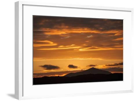 The Channel Between Sombrero Chino Island and Santiago Island in the Galapagos at Sunset-Karen Kasmauski-Framed Art Print