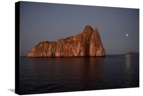 Sleeping Lion Rock Off San Cristobal in the Galapagos at Twilight-Karen Kasmauski-Stretched Canvas Print