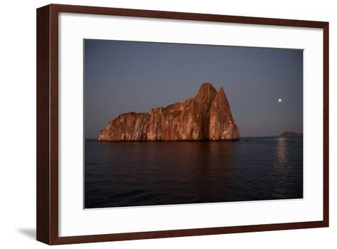 Sleeping Lion Rock Off San Cristobal in the Galapagos at Twilight-Karen Kasmauski-Framed Art Print