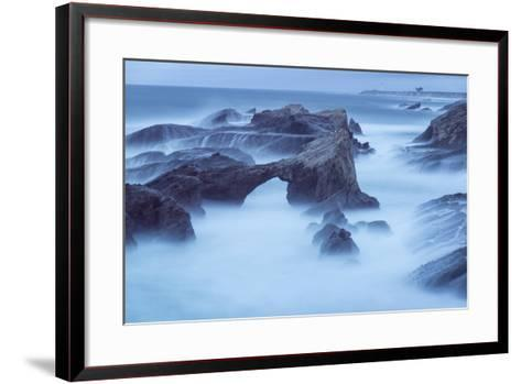 The Eroded Coastline of Stornetta Public Lands North of the Town of Point Arena-Michael Melford-Framed Art Print