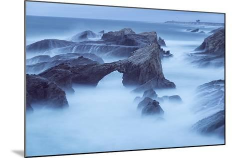 The Eroded Coastline of Stornetta Public Lands North of the Town of Point Arena-Michael Melford-Mounted Photographic Print