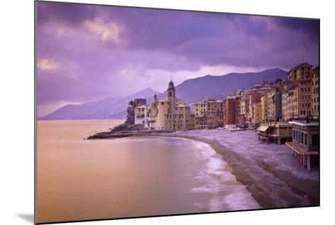 Buildings Along the Coast at Sunset; Camogli Liguria Italy-Design Pics Inc-Mounted Photographic Print