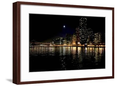 The New York City Skyline Lights Up a December Night-Robbie George-Framed Art Print