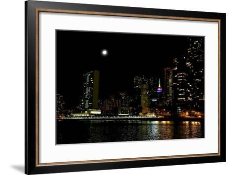 The New York City Skyline Lights Up a December Night-Robbie George-Framed Art Print