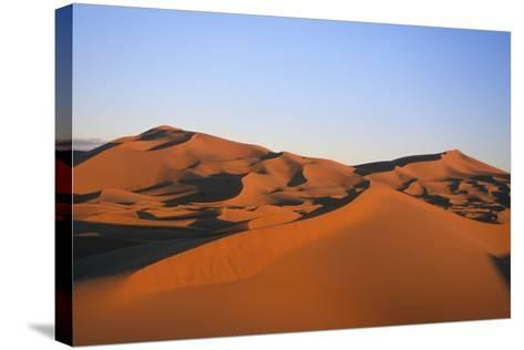 Sand Dunes in the Desert Near Merzouga, Morocco-Rebecca Hale-Stretched Canvas Print