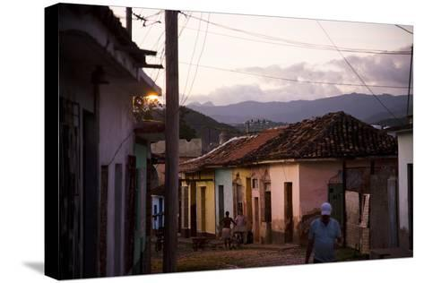Colorful Buildings in the Small Town of Trinidad, Cuba-Michael Hanson-Stretched Canvas Print