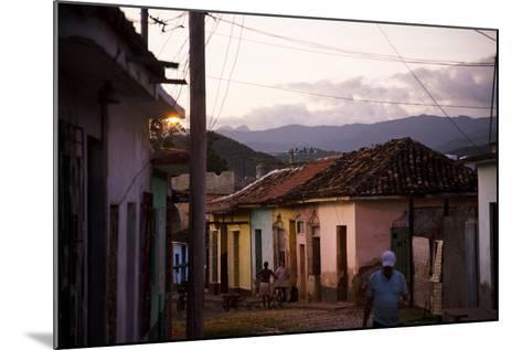 Colorful Buildings in the Small Town of Trinidad, Cuba-Michael Hanson-Mounted Photographic Print
