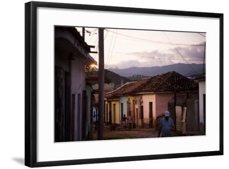 Colorful Buildings in the Small Town of Trinidad, Cuba-Michael Hanson-Framed Art Print