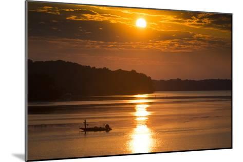 A Fisherman at Sunrise on the Occoquan River, Looking Toward Mason Neck-Kent Kobersteen-Mounted Photographic Print