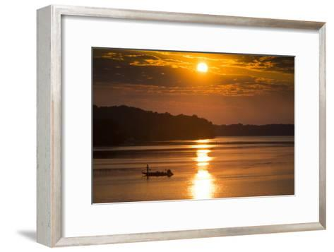 A Fisherman at Sunrise on the Occoquan River, Looking Toward Mason Neck-Kent Kobersteen-Framed Art Print