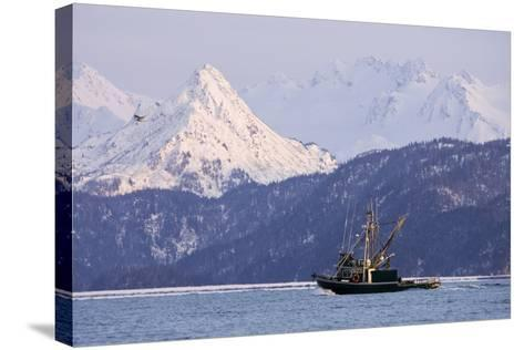 Commercial Fishing Boat-Design Pics Inc-Stretched Canvas Print