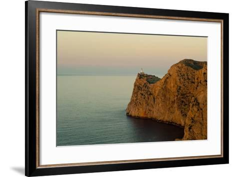 Views of the Lighthouse at Sunset-Design Pics Inc-Framed Art Print