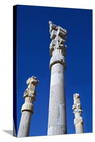 Columns of Xerxes Gateway Against Clear Sky-Design Pics Inc-Stretched Canvas Print