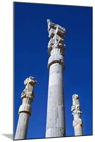 Columns of Xerxes Gateway Against Clear Sky-Design Pics Inc-Mounted Photographic Print