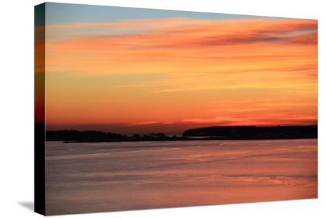 The Sun Rises over the Calendar Islands in Maine's Casco Bay-Robbie George-Stretched Canvas Print