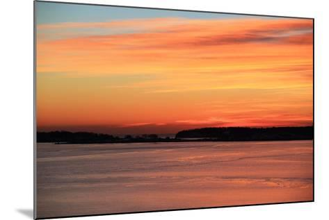 The Sun Rises over the Calendar Islands in Maine's Casco Bay-Robbie George-Mounted Photographic Print