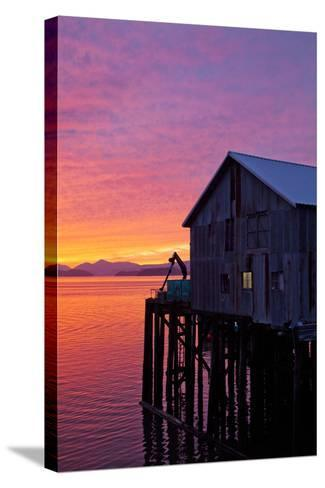 A Fish House over the Water-Michael Hanson-Stretched Canvas Print