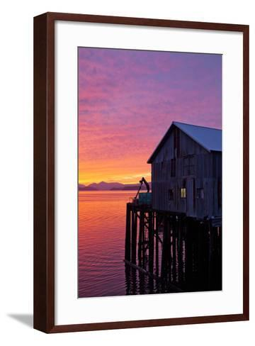 A Fish House over the Water-Michael Hanson-Framed Art Print