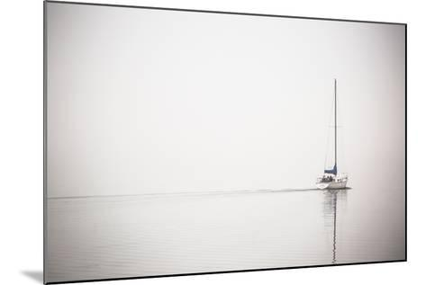 A Lone Sailboat Motors Through Morning Fog on the Occoquan River, Near the Potomac River-Kent Kobersteen-Mounted Photographic Print