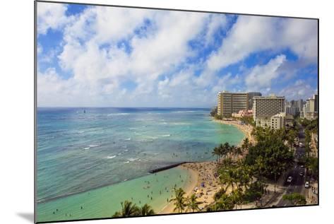Hawaii, Oahu, Waikiki, View of the Pacific Ocean, Waikiki Beach, and Famous Hotels-Design Pics Inc-Mounted Photographic Print