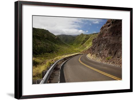 Hawaii, Maui, a Winding Road Through Maui's West Side with Lush Mountains-Design Pics Inc-Framed Art Print