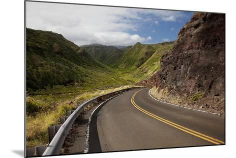 Hawaii, Maui, a Winding Road Through Maui's West Side with Lush Mountains-Design Pics Inc-Mounted Photographic Print