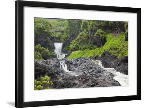 Hawaii, Maui, Hana, Seven Sacred Pools, a Large Stream and Waterfalls-Design Pics Inc-Framed Art Print